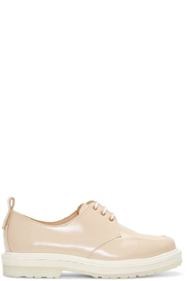 Aalto - Beige Leather Derbys