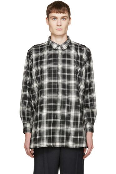 Kidill - Black & White Plaid Flared Shirt