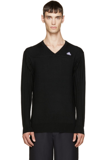 Adidas x Kolor - Black V-Neck Sweater