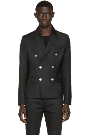 Pierre Balmain - Black Double-Breasted Blazer