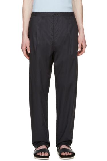 Tomorrowland - Navy Papaya E-Slant Trousers