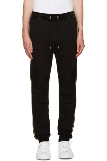 Balmain - Black & Gold Trimmed Lounge Pants