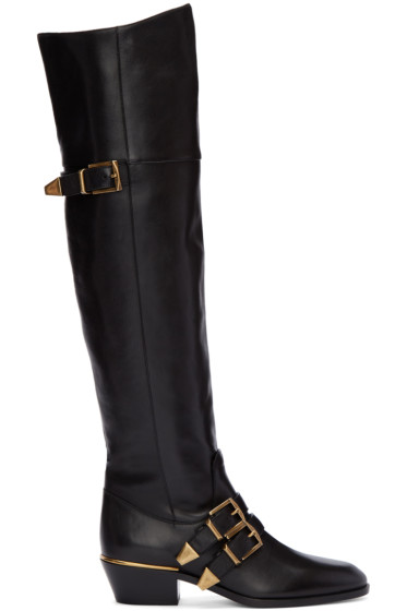Chloé - Black Over-The-Knee Susan Boots
