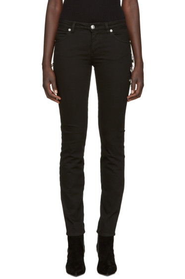 Versus - Black Safety Pin Skinny Jeans