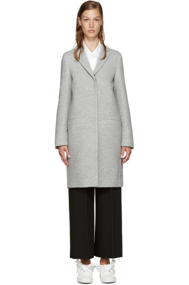 MSGM - Grey Oversized Coat