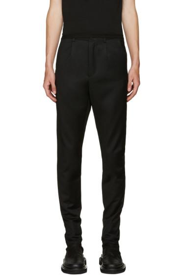 D.Gnak by Kang.D - Black Zip Cuffs Trousers