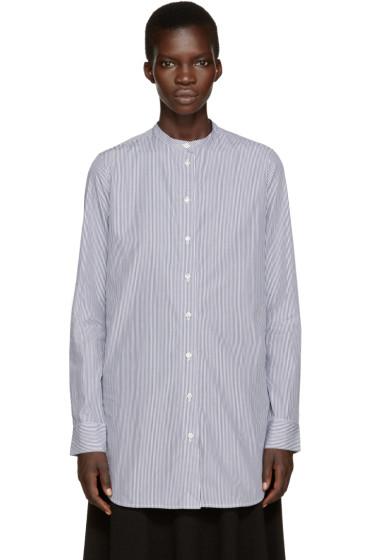 Studio Nicholson - Navy & White Klein Standard Shirt