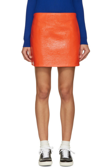 Courrèges - Orange Glossy Mini Skirt