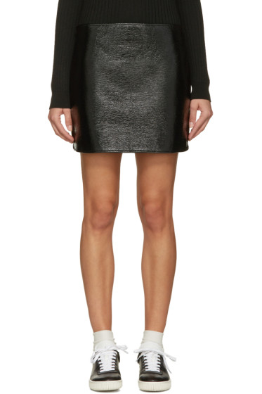 Courrèges - Black Glossy Mini Skirt