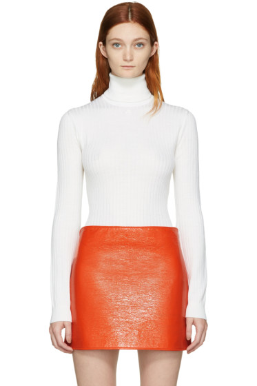 Courrèges - Ivory Classic Turtleneck Bodysuit