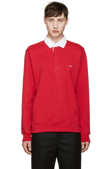Noah NYC - Red Rugby Polo