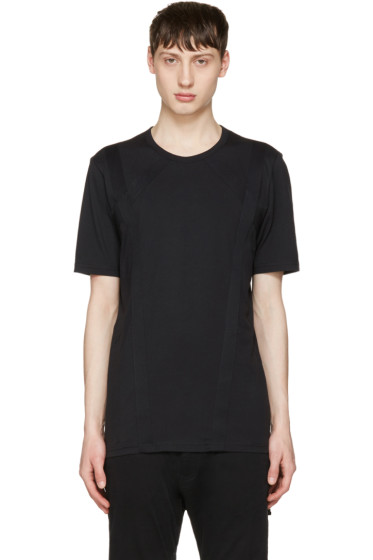 Diesel Black Gold - Black Raised Stripes T-Shirt