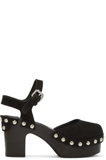 McQ Alexander McQueen - Black Holt Clog Sandals