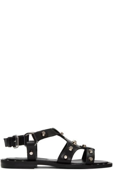 McQ Alexander McQueen - Black Solenie Gladiator Sandals