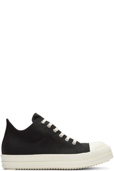 Rick Owens Drkshdw - Black Nylon Low Sneakers
