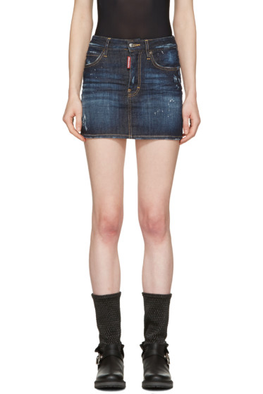 Dsquared2 - Indigo Denim Miniskirt