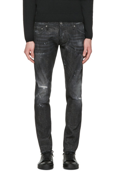 Dsquared2 - Black Micro-Studded Clement Jeans