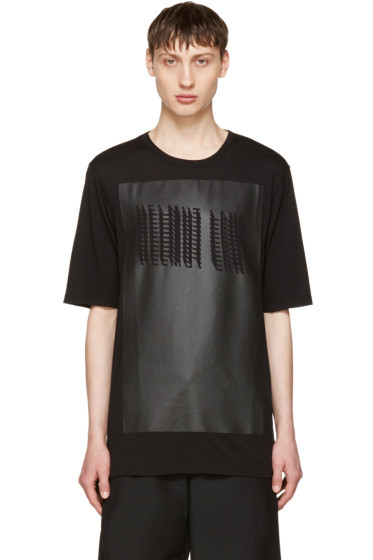 Helmut Lang - Black Glitch Logo T-Shirt