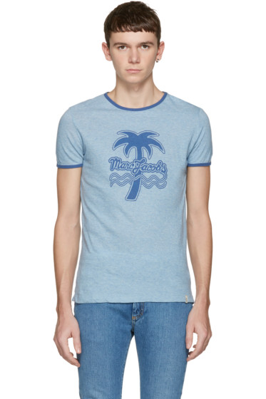 Marc Jacobs - Blue Palm Tree Ringer T-Shirt