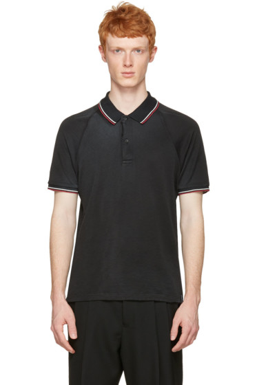 Lanvin - Black Distressed Polo