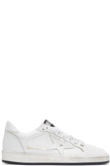 Golden Goose - White Ball Star Sneakers