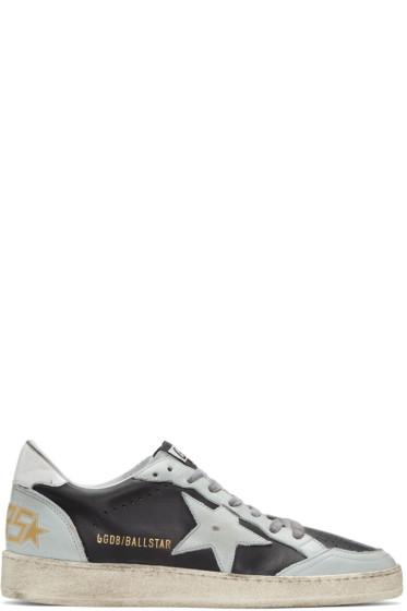 Golden Goose - Black & Blue Ball Star Sneakers