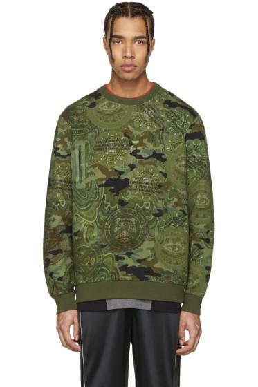 Givenchy - Green Camo Illuminati Pullover