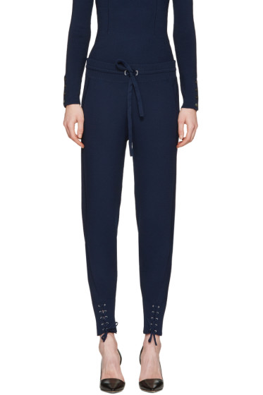 3.1 Phillip Lim - Navy Rib Knit Jogger Lounge Pants