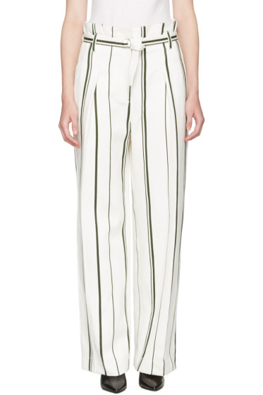 3.1 Phillip Lim - Off-White Striped Paper Bag Trousers