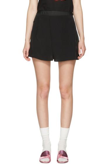 Carven - Black Fluid Shorts