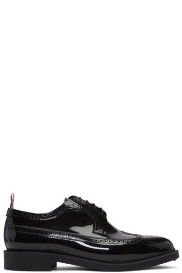 Thom Browne - Black Rubber Classic Longwing Brogues