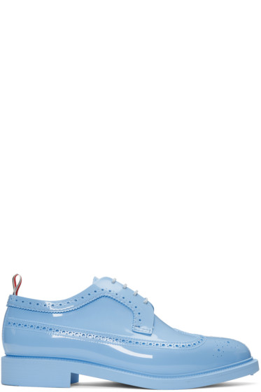 Thom Browne - Blue Rubber Classic Longwing Brogues