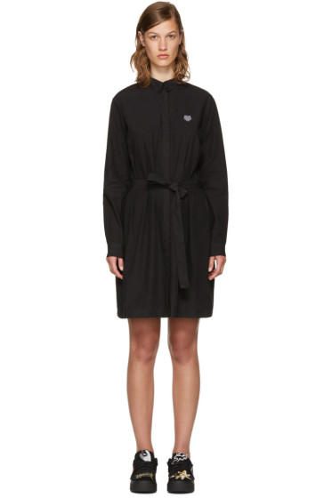 Kenzo - Black Tiger Shirt Dress