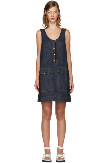 Kenzo - Blue Denim Pockets Dress