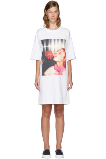 Kenzo - White Donna Jordan Oversized T-Shirt Dress