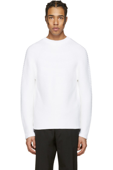 Kenzo - White Ribbed Sweater