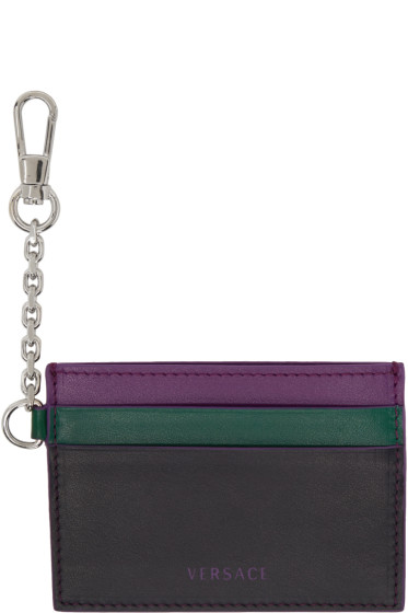 Versace - Tricolor Clip-On Chain Card Holder