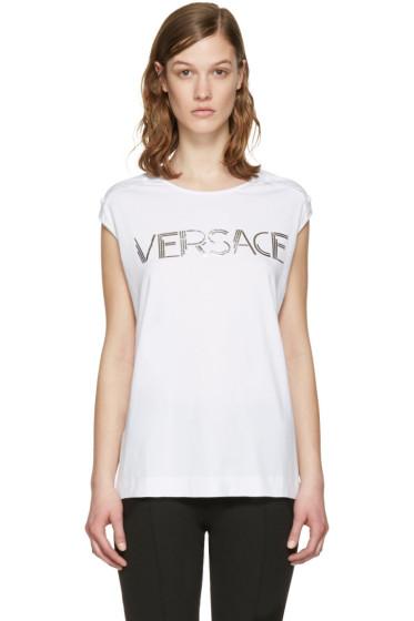 Versace - White Muscle T-Shirt