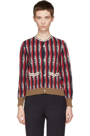 Undercover - Multicolor Cropped Piano Cardigan