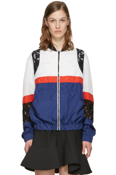 MSGM - Blue Nylon Bomber Jacket