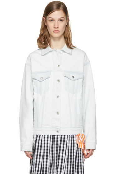 MSGM - Blue Denim Logo Jacket
