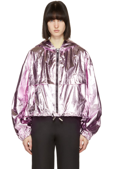 MSGM - Pink Metallic Cropped Jacket