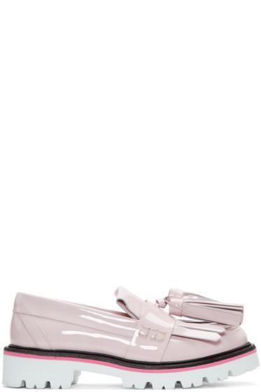 MSGM - Pink Patent Fringe Tassel Loafers