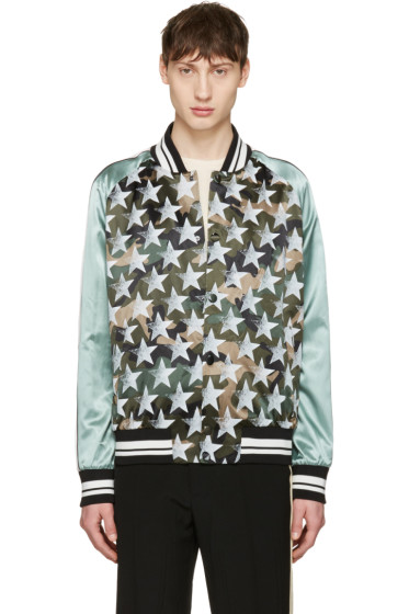 Valentino - Green Star Souvenir Bomber Jacket