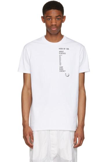 Hood by Air - White Homepage T-Shirt