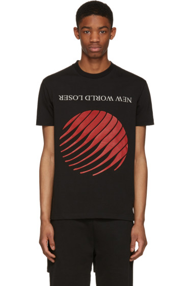 Hood by Air - Black 'New World Loser' T-Shirt