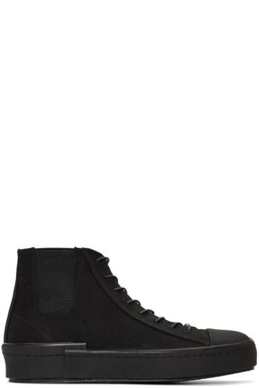 Yohji Yamamoto - Black Gore High-Top Sneakers