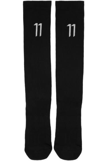 11 by Boris Bidjan Saberi - Black Classic Sport Logo Socks