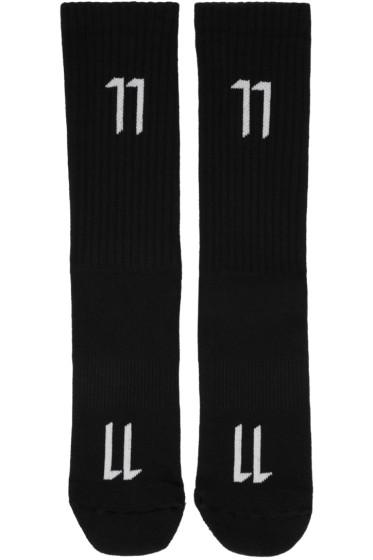11 by Boris Bidjan Saberi - Black Logo Socks