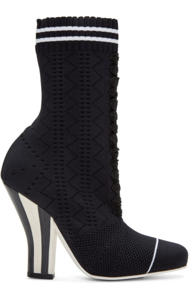 Fendi - Black Stretch Sock Boots